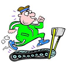treadmill cartoon