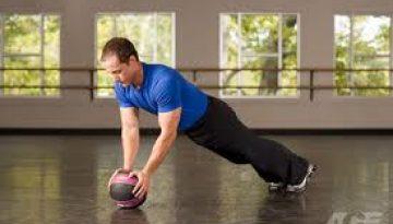 medicine ball push up