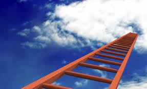 ladder into clouds