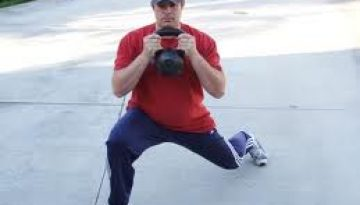 lunges with kettlebell