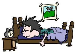 sleeping in cartoon