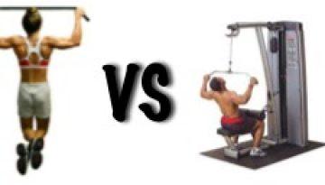 pull ups vs pull down