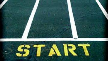start line on pavement