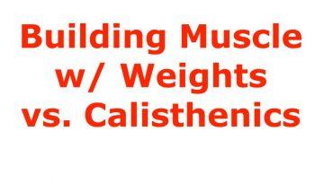 weight vs calisthenics