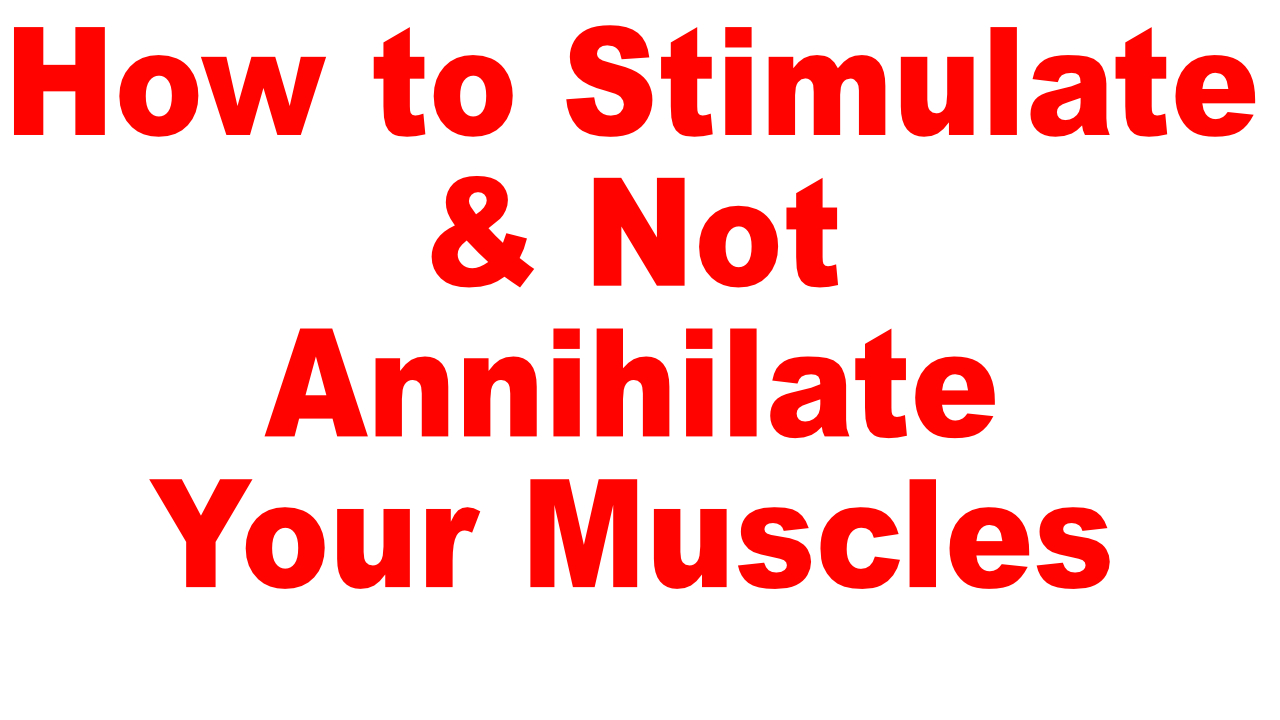stimulate don't annihilate