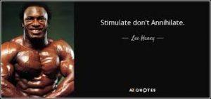 stimulate don't annihilate