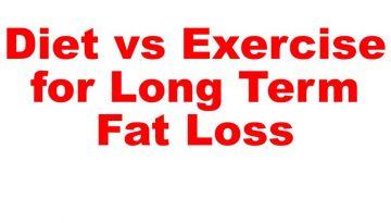 Diet vs exercise fat loss