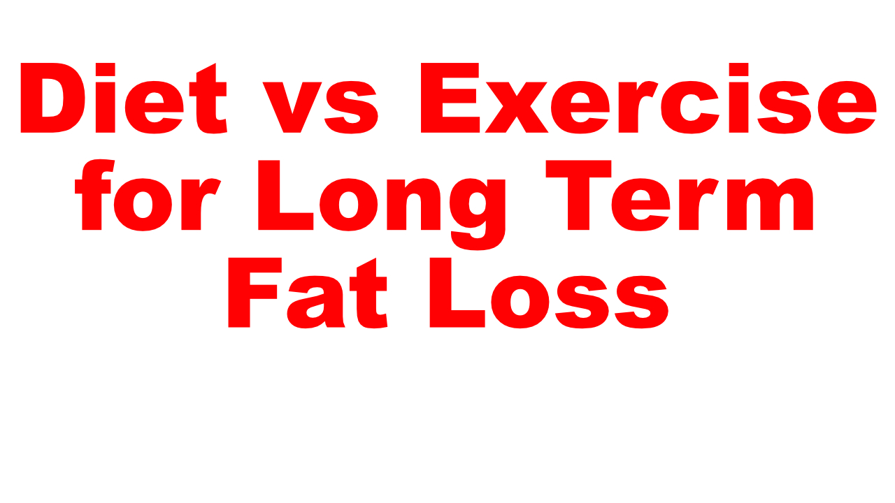 Diet vs exercise fat loss