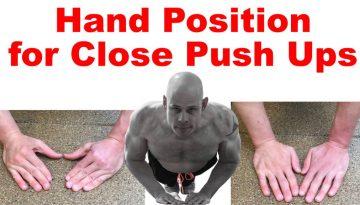 close push up hand