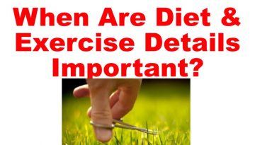 diet and exercise details