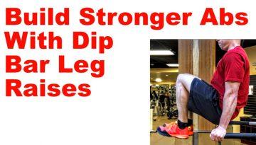 dip bar leg raises