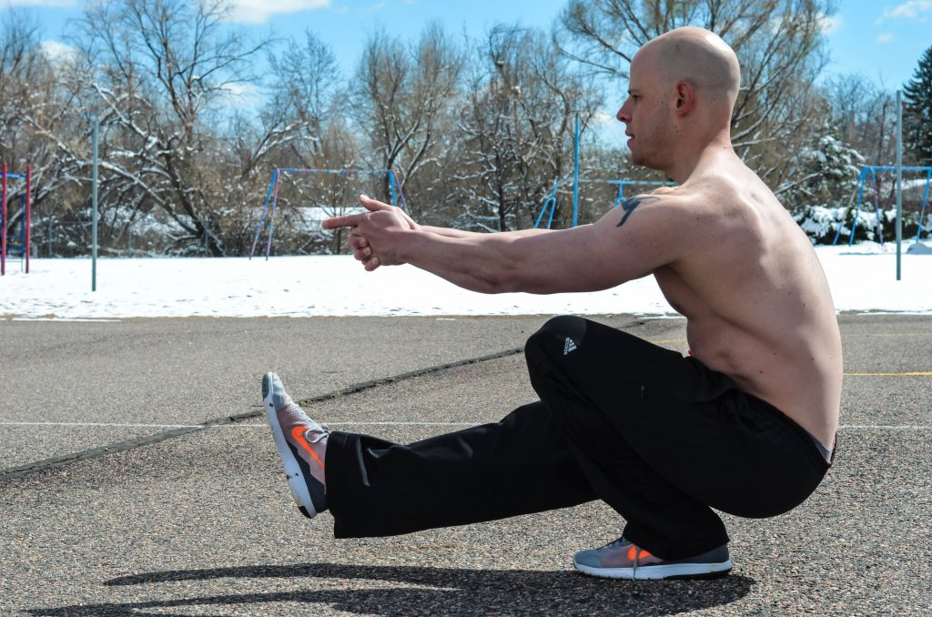 build strength with pistol squats