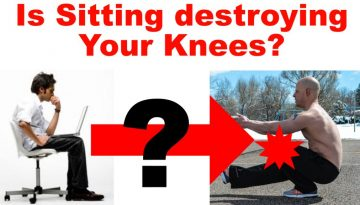 sitting person and pistol squatting person
