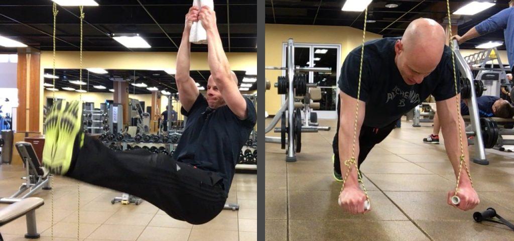 plank and leg raise