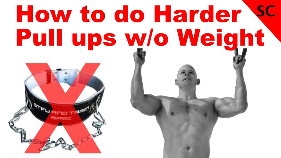 harder pull ups without weight