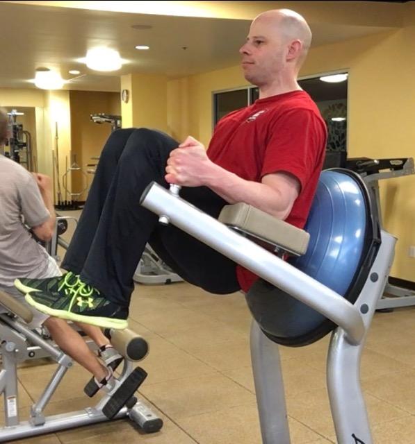 supported leg raises