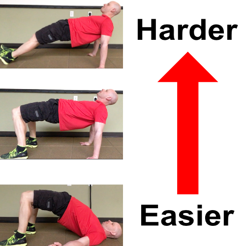 bridge exercise progressions