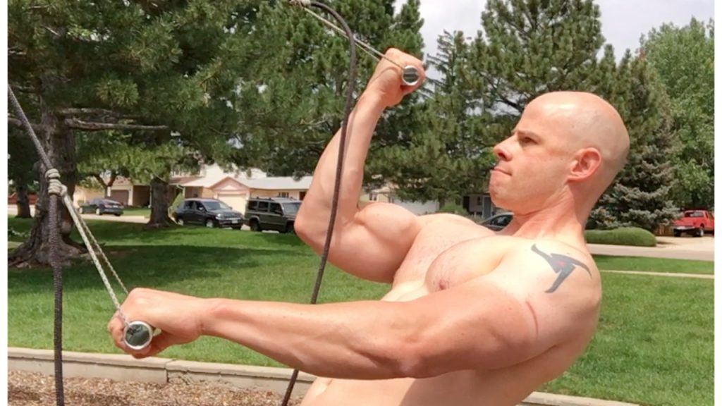 bodyweight bicep curl on suspension trainer