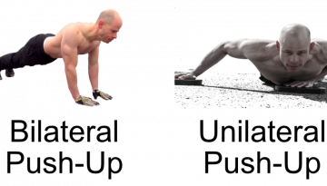 unilateral vs bilateral push-up