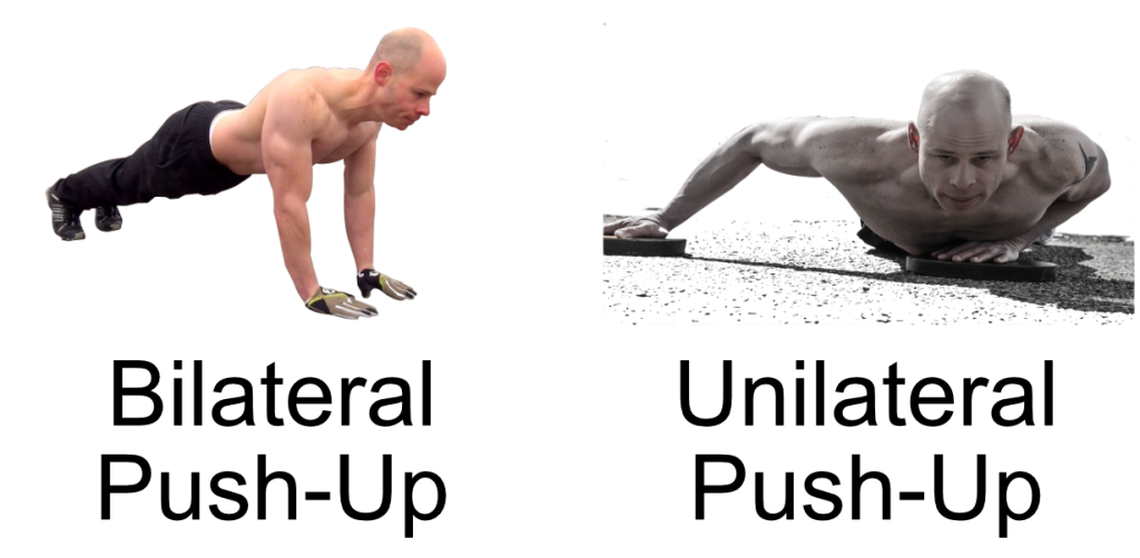 unilateral vs bilateral push-up