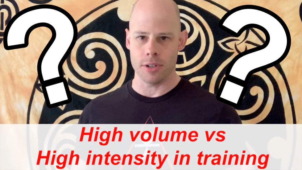 high volume vs high intensity training